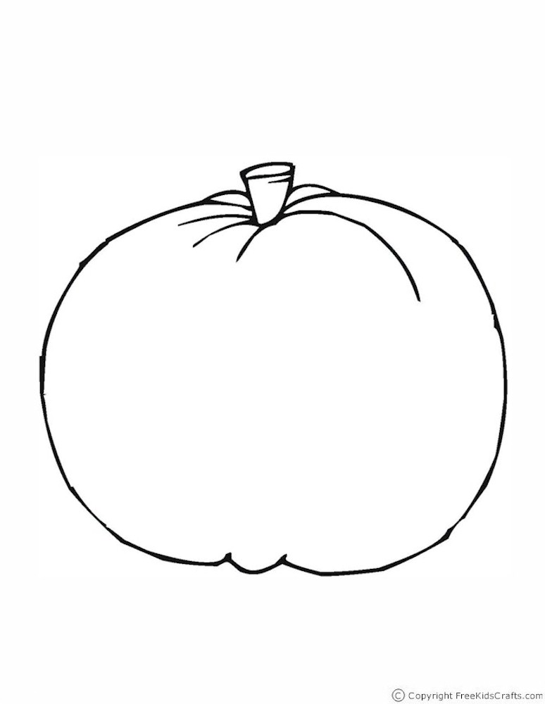 Halloween Pumpkin Outline Coloring Page