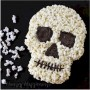 Image of Tasty Halloween Popcorn Skull Craft