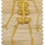 Halloween Skeleton Made From Pasta