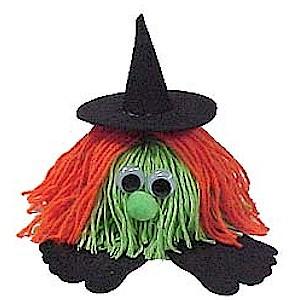 How To Make A Halloween Witch Yarn Bug