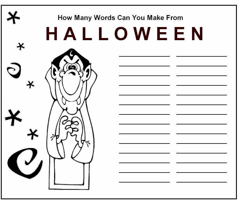Image of Halloween Word Game