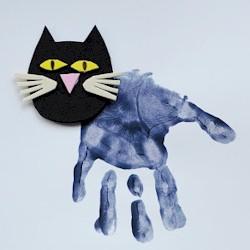 Handprint Black Cat