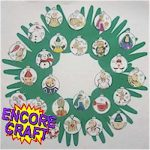 Handprint Countdown Wreath