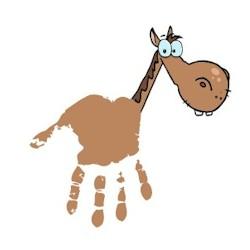 Handprint horse for Horse crafts for kids