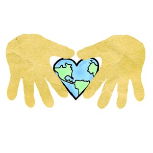 Handprint Love The Earth Craft