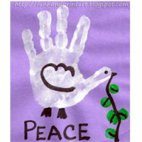Image of Peace on Earth Handprint