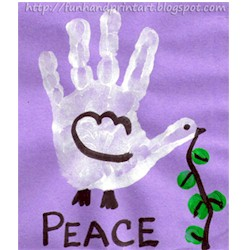 Image of Handprint Peace Dove