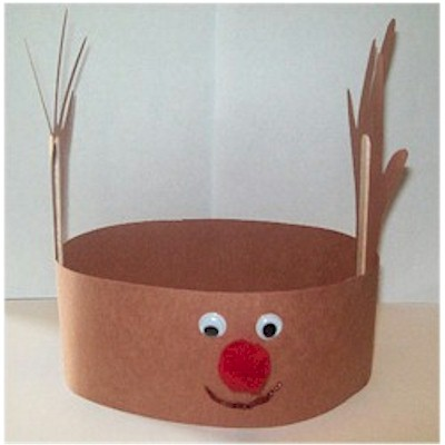 Easy Handprint Reindeer Hat