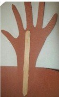 Image of Easy Handprint Reindeer Hat