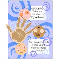 Image of Printable Friendship Handprint Poem