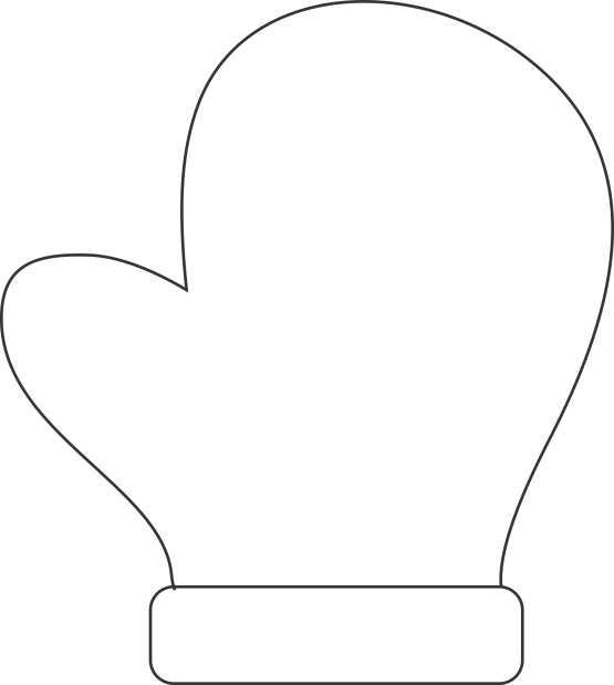 large coloring pages for mittens | Make A Handprint Mitten Decoration