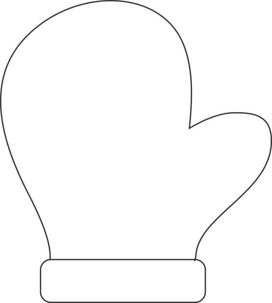 Make A Handprint Mitten Decoration