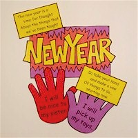 Image of Handprint New Year&#39s Resolution