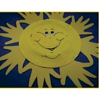 Image of Handprint Sun Craft