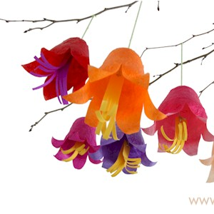 Hanging tissue paper flowers mightylinksfo