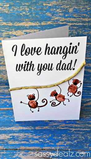 Fingerprint Hanging With Dad Card