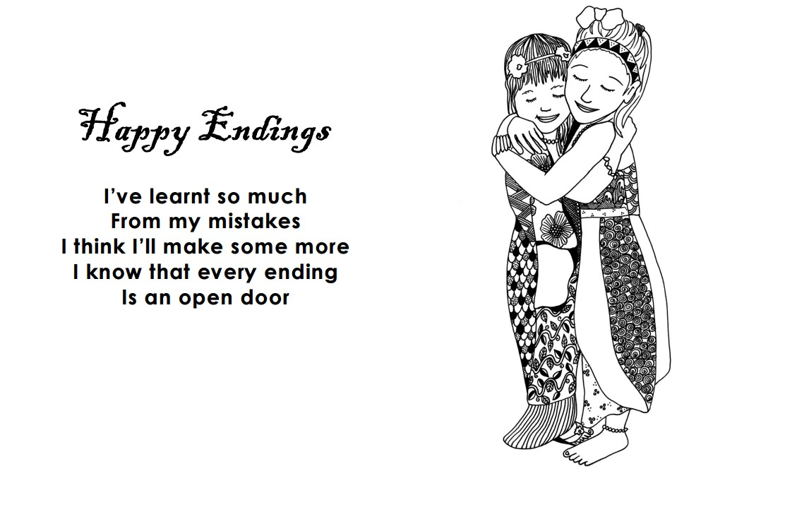 Image of Happy Endings Coloring Page