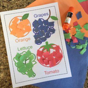 Easy healthy food craft for preschooers