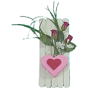 Make A Hearts and Flowers Magnet