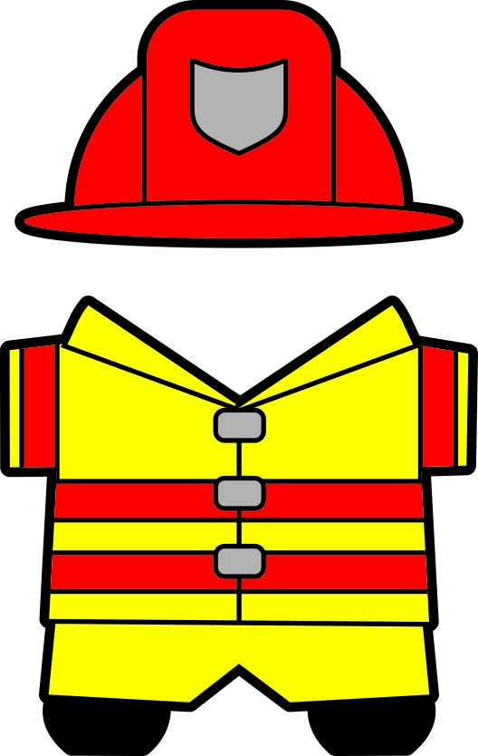 Printable community helpers buddies paper dolls for Firefighter hat template preschool