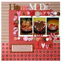 Image of Home Made Love Scrapbook Page