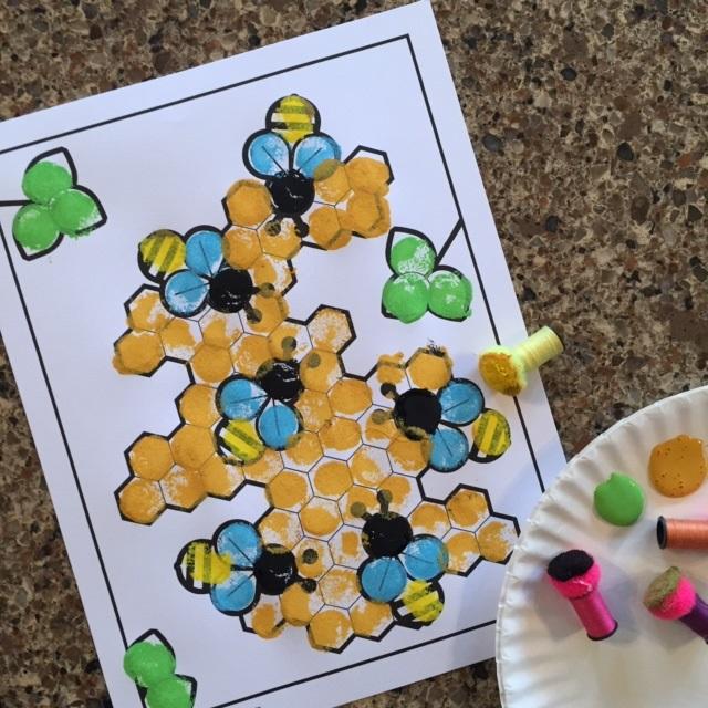 Honeybee Pom Pom Craft