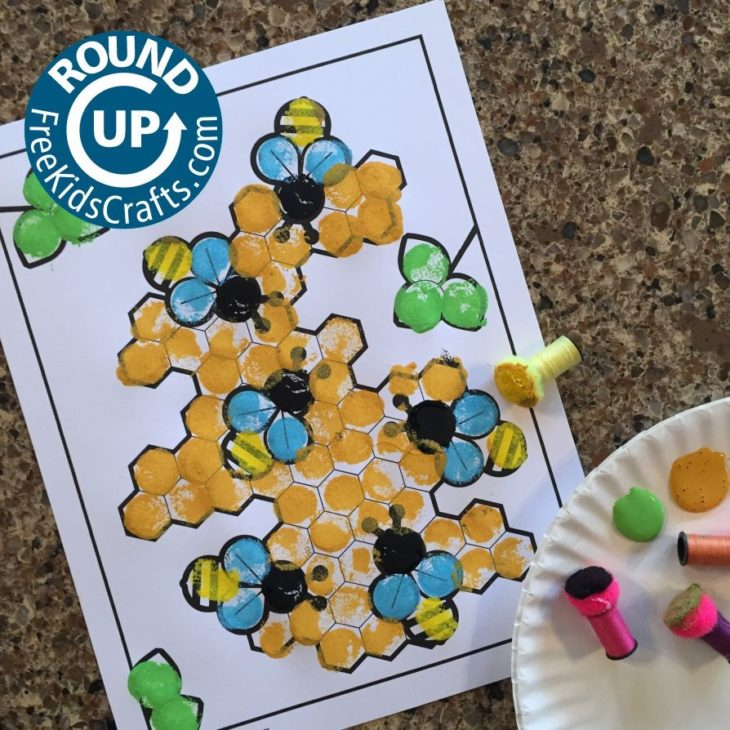 Honey Bee Crafts and Activities (Roundup)