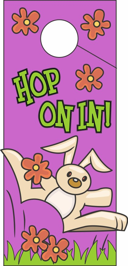 Image of Hop On In Door Hanger