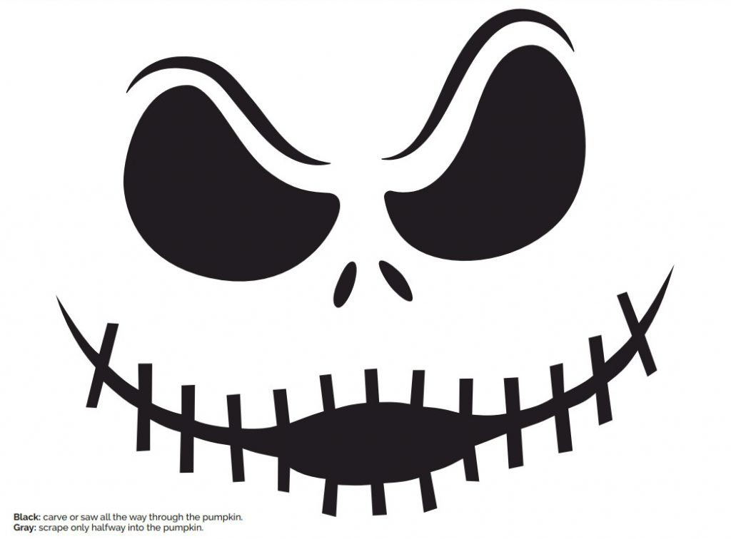 jack-skellington-pumpkin-stencil - Free Kids Crafts