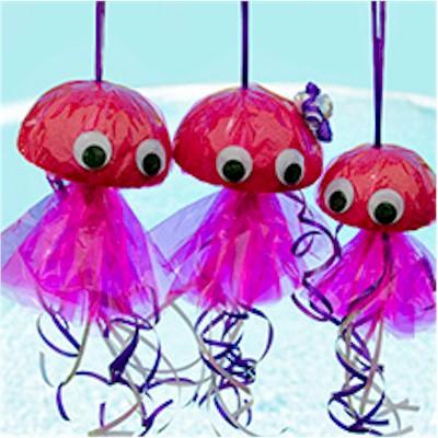 styrofoam jellyfish craft