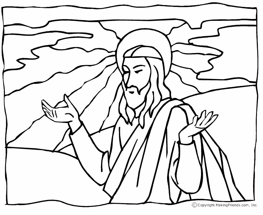 Image of Printable Nativity Coloring Page