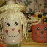 Jolly Painted Halloween Jars