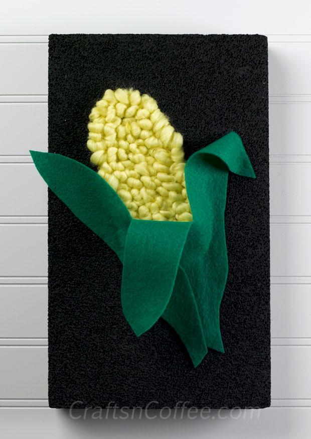 Kwanzaa Yarn And Felt Ear Of Corn