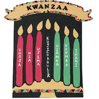 Image of Beaded Kwanzaa Flag