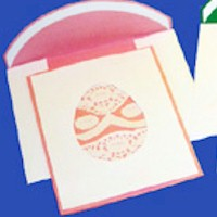Lacy Easter Egg Cards