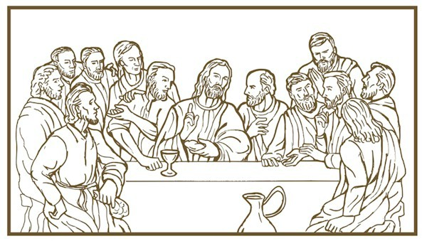 Image of Last Supper Coloring Page