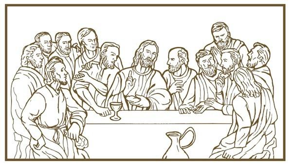 Last Supper Coloring Page Da Vinci Last Supper Coloring Pages