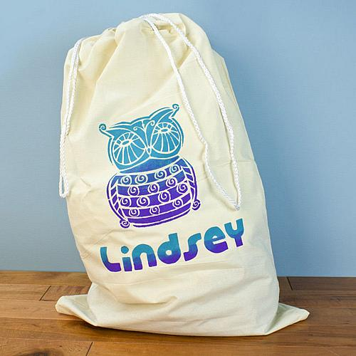Image of Laundry Bag with Owl Design