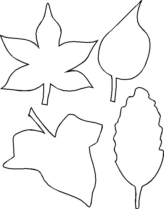 leaf-outlines