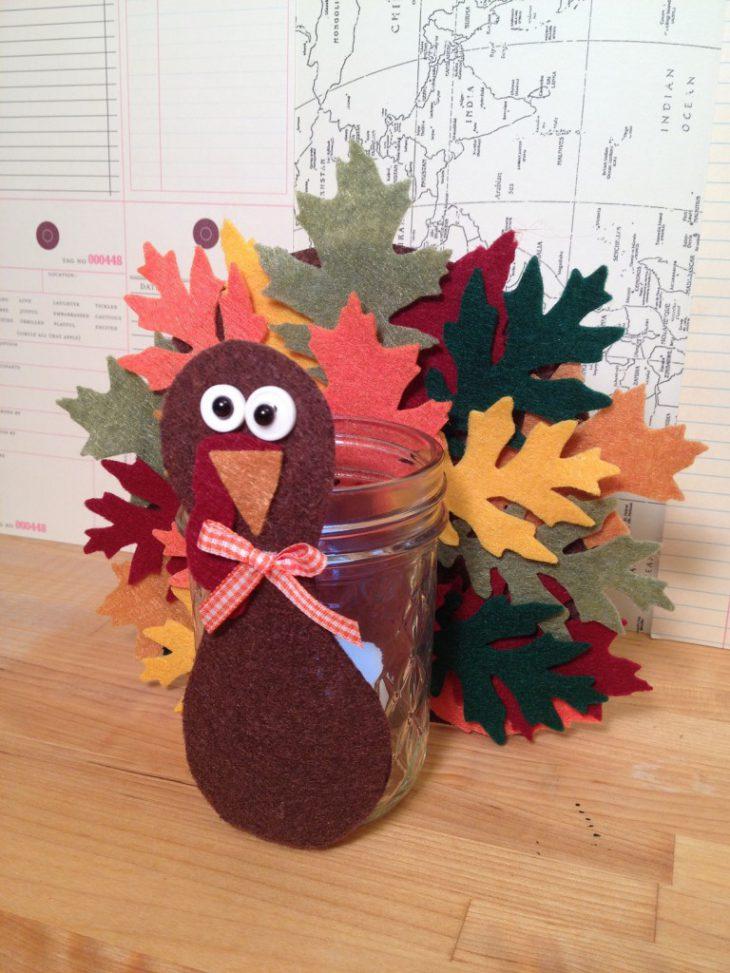 Leafy Thanksgiving Turkey Votive