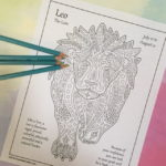 August Zodiac Coloring Page (Leo)