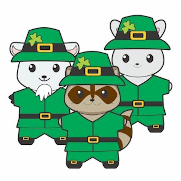 Printable Leprechaun Buddies Paper Dolls