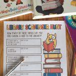 Printable Library Scavenger Hunt