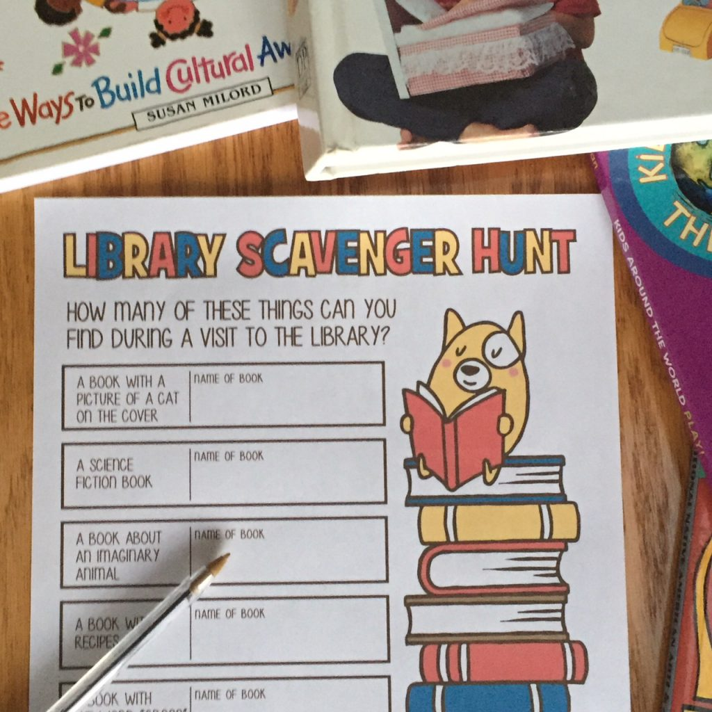 Free Printable Library Scavenger Hunt Activity