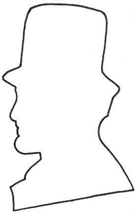 lincoln-silhouette-pattern