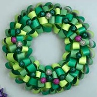 Loopy Paper Wreath