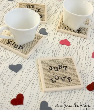 Image of Love Coasters For Valentines Day