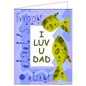 Image of Luv You Dad Printable Card