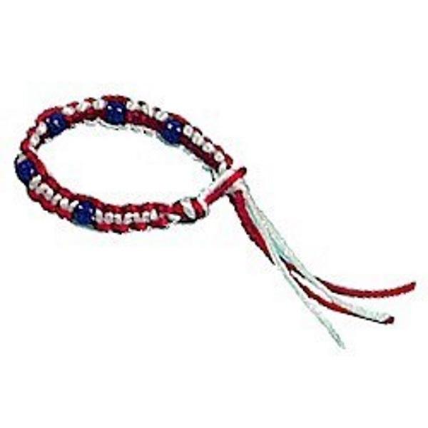 Macrame Patriotic Bracelet