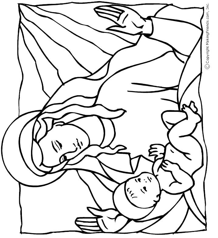 madona-child-coloring-page